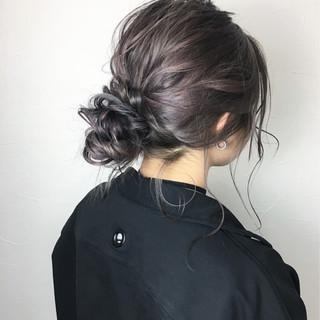 ラフ ナチュラル 謝恩会 ルーズ ヘアスタイルや髪型の写真・画像