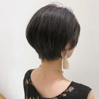 暗髪 色気 ショート かっこいい ヘアスタイルや髪型の写真・画像
