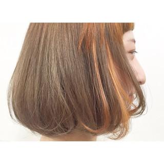 ダブルカラー インナーカラー アッシュ ストリート ヘアスタイルや髪型の写真・画像