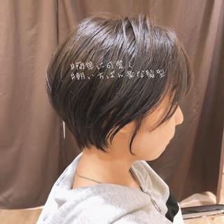 黒髪 デート スポーツ 小顔ショート ヘアスタイルや髪型の写真・画像