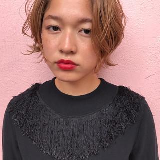デート モード 透明感 パーマ ヘアスタイルや髪型の写真・画像