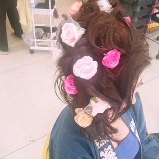ロング 着物 お祭り ヘアアレンジ ヘアスタイルや髪型の写真・画像 ヘアスタイルや髪型の写真・画像