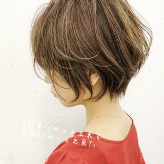 小顔ヘア ショート ショートボブ ミニボブ ヘアスタイルや髪型の写真・画像