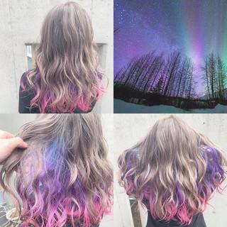 外国人風 ストリート 派手髪 ハイトーン ヘアスタイルや髪型の写真・画像