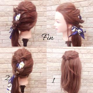 簡単ヘアアレンジ エレガント 上品 春 ヘアスタイルや髪型の写真・画像
