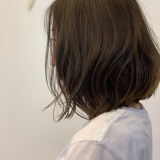 デート ボブ 外国人風カラー ヘアアレンジ ヘアスタイルや髪型の写真・画像