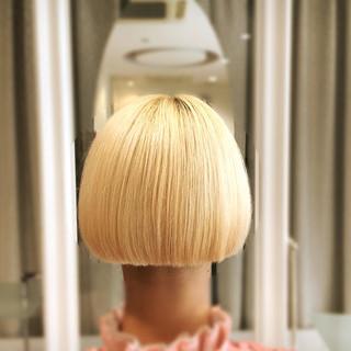 ボブ モード イルミナカラー 透明感 ヘアスタイルや髪型の写真・画像