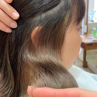 ナチュラル ハイライト ボブ インナーカラー ヘアスタイルや髪型の写真・画像