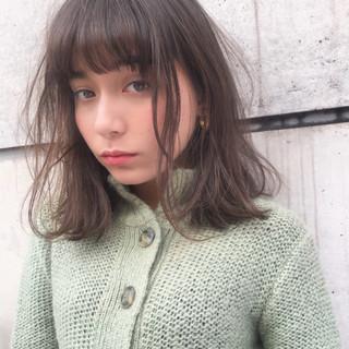 バレンタイン ガーリー ミディアム 色気 ヘアスタイルや髪型の写真・画像