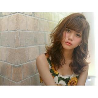 大人かわいい ピュア ミディアム ストリート ヘアスタイルや髪型の写真・画像