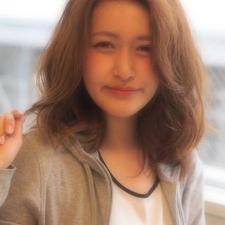 ゆるふわ 簡単 外国人風 セミロング ヘアスタイルや髪型の写真・画像