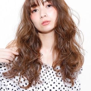 パーマ 前髪あり 透明感 ロング ヘアスタイルや髪型の写真・画像