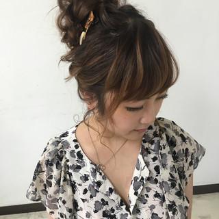 ヘアアレンジ 二次会 大人かわいい 結婚式 ヘアスタイルや髪型の写真・画像