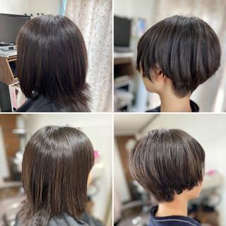 ウルフカット ショートボブ ショートヘア ベリーショート ヘアスタイルや髪型の写真・画像