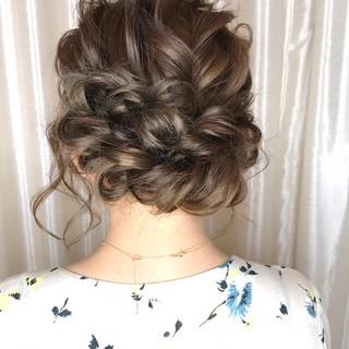 結婚式 ロング ナチュラル 簡単ヘアアレンジ ヘアスタイルや髪型の写真・画像