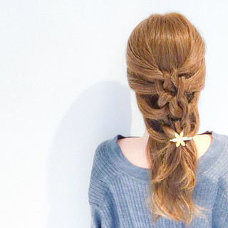 簡単ヘアアレンジ フェミニン ヘアアレンジ デート ヘアスタイルや髪型の写真・画像