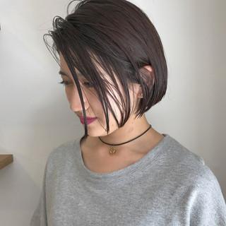 切りっぱなし ハイライト ナチュラル 黒髪 ヘアスタイルや髪型の写真・画像