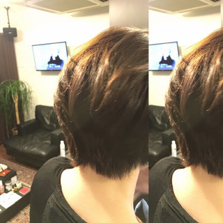 ボブ ショート レイヤーカット アッシュ ヘアスタイルや髪型の写真・画像 ヘアスタイルや髪型の写真・画像