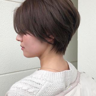 マッシュショート ショートヘア ナチュラル 小顔ショート ヘアスタイルや髪型の写真・画像