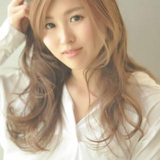 大人かわいい かわいい ナチュラル セミロング ヘアスタイルや髪型の写真・画像