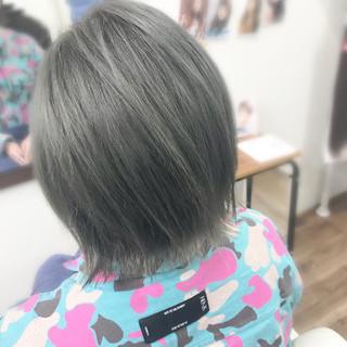 モード ボブ ダブルカラー ヘアスタイルや髪型の写真・画像