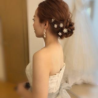 ヘアセット ロング 結婚式ヘアアレンジ フェミニン ヘアスタイルや髪型の写真・画像