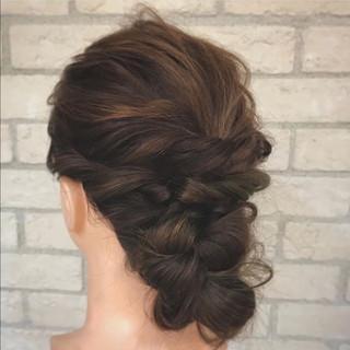 ヘアアレンジ 大人女子 パーティ 結婚式 ヘアスタイルや髪型の写真・画像