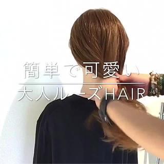 ヘアアレンジ フェミニン オフィス 簡単ヘアアレンジ ヘアスタイルや髪型の写真・画像