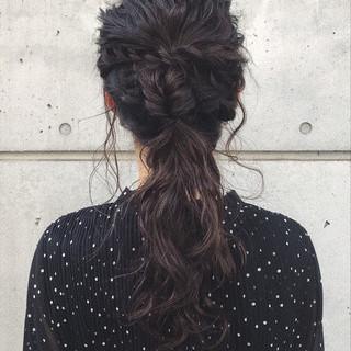 ロング アンニュイほつれヘア 結婚式 ヘアアレンジ ヘアスタイルや髪型の写真・画像