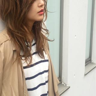 ゆるふわ 前髪あり ミディアム 外国人風 ヘアスタイルや髪型の写真・画像