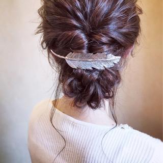 エレガント お呼ばれ 大人女子 シニヨン ヘアスタイルや髪型の写真・画像