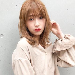 ミディアム 大人ミディアム ひし形シルエット ミディアムレイヤー ヘアスタイルや髪型の写真・画像