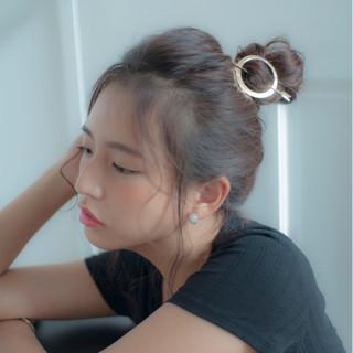外国人風 ショート 夏 ロング ヘアスタイルや髪型の写真・画像