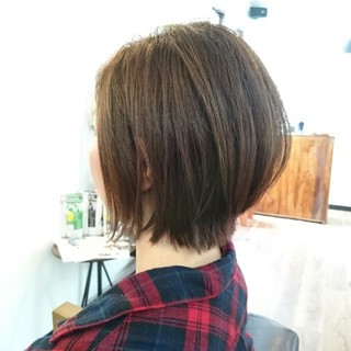 外国人風 大人女子 ボブ ハイライト ヘアスタイルや髪型の写真・画像