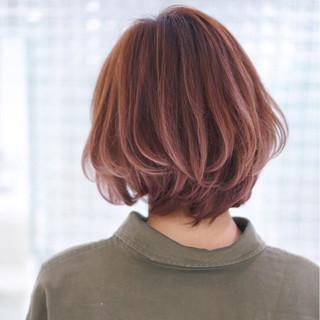 ショートボブ グラデーションカラー ストリート 外国人風 ヘアスタイルや髪型の写真・画像