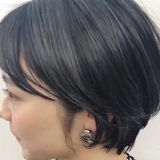 透明感カラー ショート ハンサムショート イルミナカラー ヘアスタイルや髪型の写真・画像