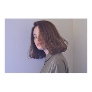 パーマ 斜め前髪 ナチュラル 色気 ヘアスタイルや髪型の写真・画像