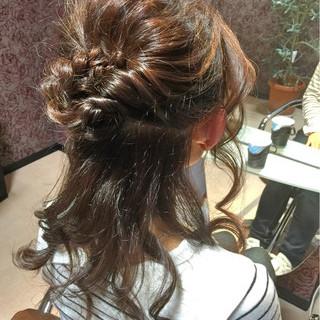 ゆるふわ ハーフアップ かわいい 色気 ヘアスタイルや髪型の写真・画像 ヘアスタイルや髪型の写真・画像
