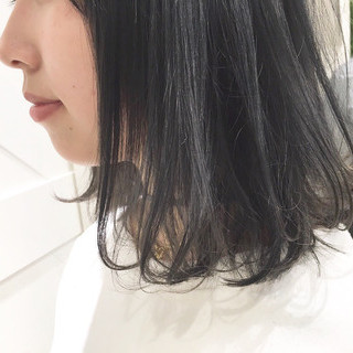 ボブ モード 暗髪 黒髪 ヘアスタイルや髪型の写真・画像