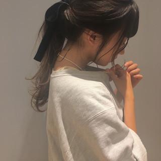 ショート ヘアアレンジ 簡単ヘアアレンジ デート ヘアスタイルや髪型の写真・画像
