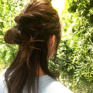 ヘアアレンジ ねじり パーティ セミロング ヘアスタイルや髪型の写真・画像