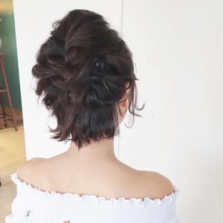 ボブ ナチュラル 結婚式 大人かわいい ヘアスタイルや髪型の写真・画像 ヘアスタイルや髪型の写真・画像