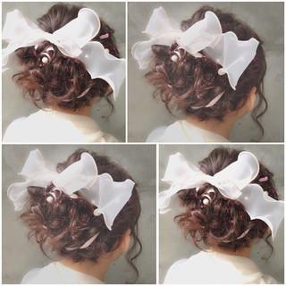 フェミニン 簡単ヘアアレンジ ショート ハーフアップ ヘアスタイルや髪型の写真・画像