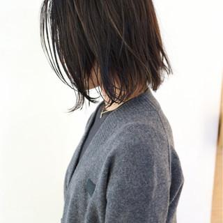 外ハネ ナチュラル 黒髪 ボブ ヘアスタイルや髪型の写真・画像