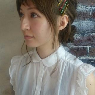 ミディアム ショート 前髪あり ガーリー ヘアスタイルや髪型の写真・画像