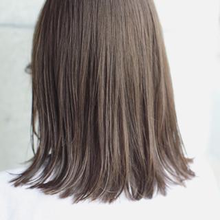大人かわいい ナチュラル 外国人風カラー ミディアム ヘアスタイルや髪型の写真・画像