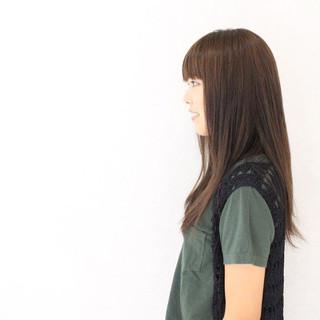 セミロング 外国人風 ガーリー グラデーションカラー ヘアスタイルや髪型の写真・画像