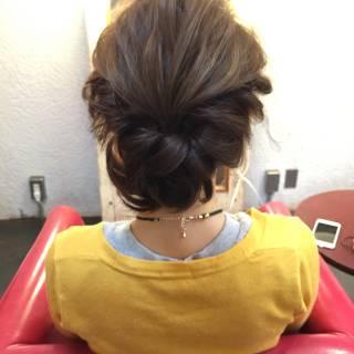 編み込み ヘアアレンジ まとめ髪 簡単 ヘアスタイルや髪型の写真・画像