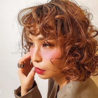 モード 簡単ヘアアレンジ 撮影 パーマ ヘアスタイルや髪型の写真・画像