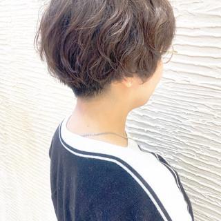 無造作パーマ ショートヘア 毛先パーマ ショート ヘアスタイルや髪型の写真・画像